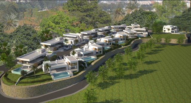 Luxurious project of villas with sea views