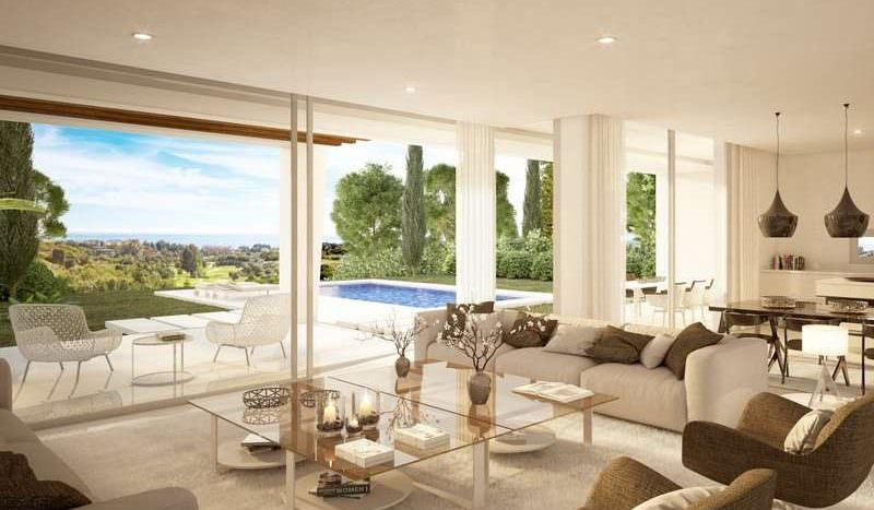 Villas with golf and sea views