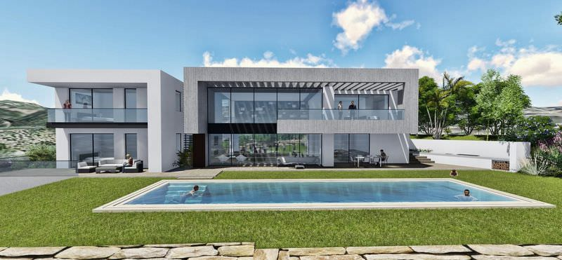 Front line golf modern villa with sea views