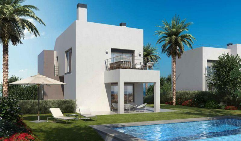 Modern Style villas with sea views