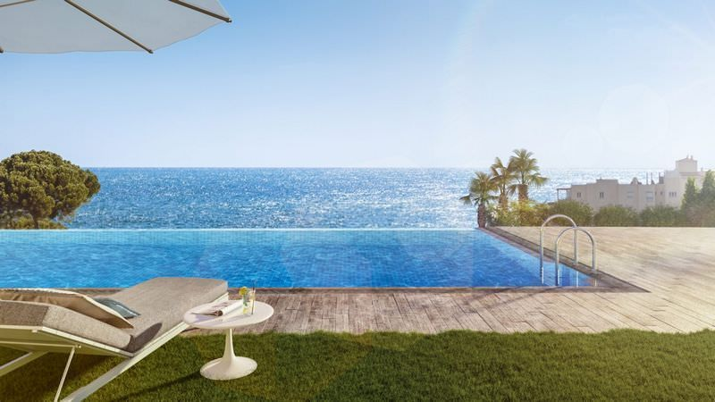 New beach side development with sea views