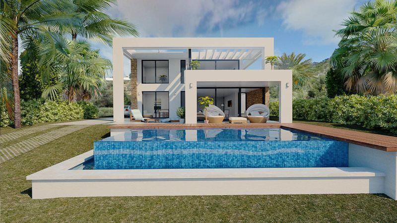 Villas with panoramic sea views