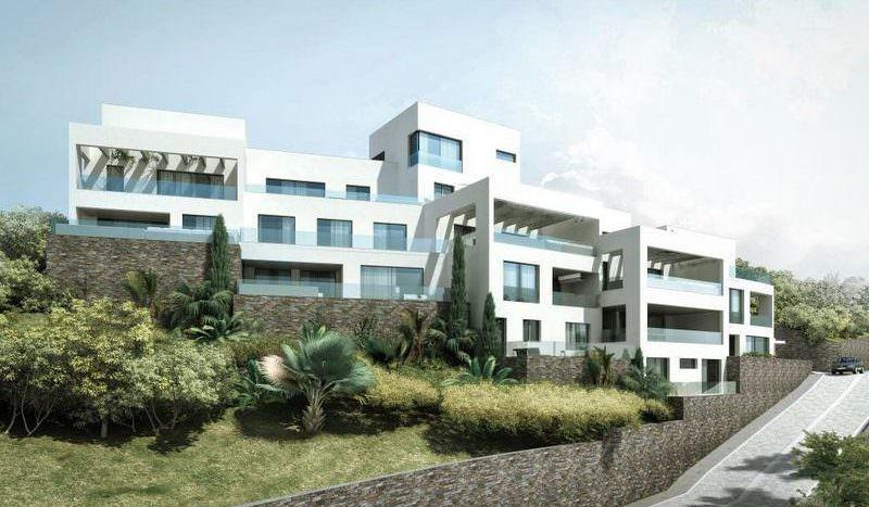 New development with open sea views