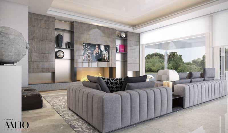 Modern villa on the golf valley