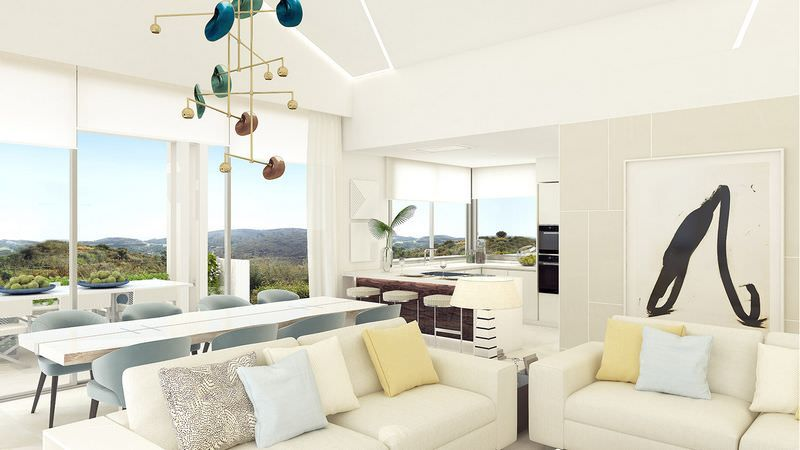 Modern apartments with open sea views