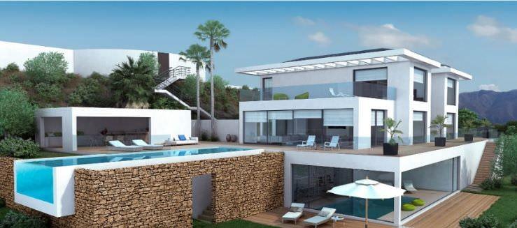 Luxurious villa with panoramic sea views