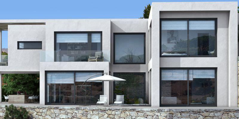 Turnkey modern villa with amazing sea views