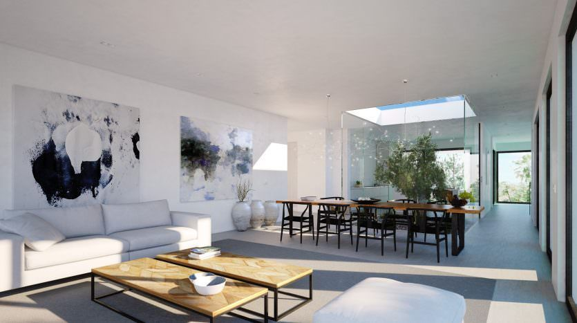 Modern villa with panoramic sea views