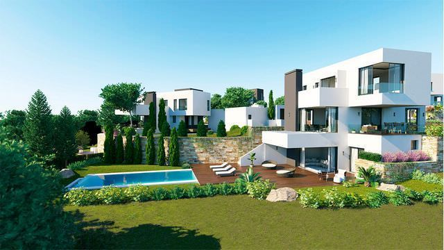 New complex of 4 modern villas