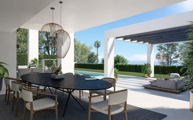 Beachside modern villa nearby Puerto Banus