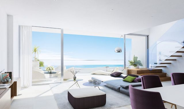 New project of modern apartments with panoramic sea views on Benalmadena Coast