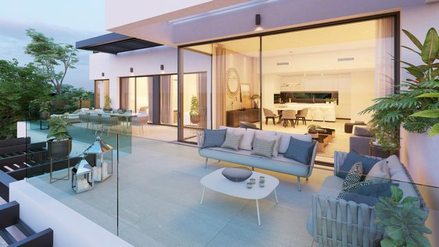 Modern apartments with panoramic sea views